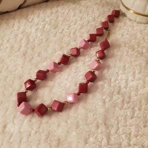 Vintage Costume jewelry Pinks & gold tone